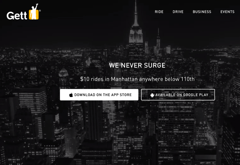 Gett: $10 Anywhere in Manhattan Below 110th Street
