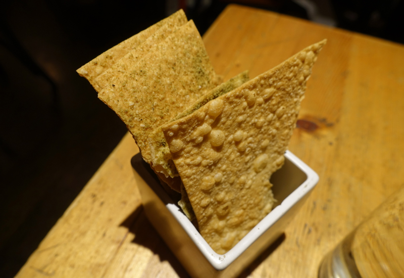 Amali NYC Restaurant Review: Hot Bread Kitchen Crackers with Za'atar