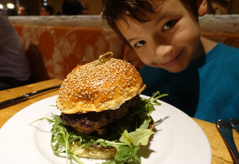 Spiced Lamb Burger, Amali Restaurant Review, NYC