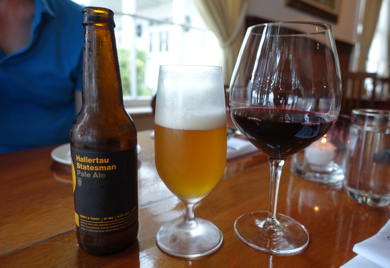 Beer and Red Wine, The Gables Restaurant Review, Russell