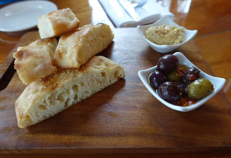Wood Fired Bread and Hummus, The Gables Restaurant Review, Russell