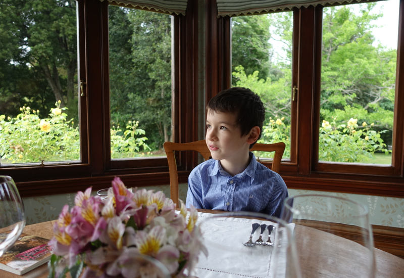 Dining in the Drawing Room Turret, Otahuna Lodge, New Zealand Review