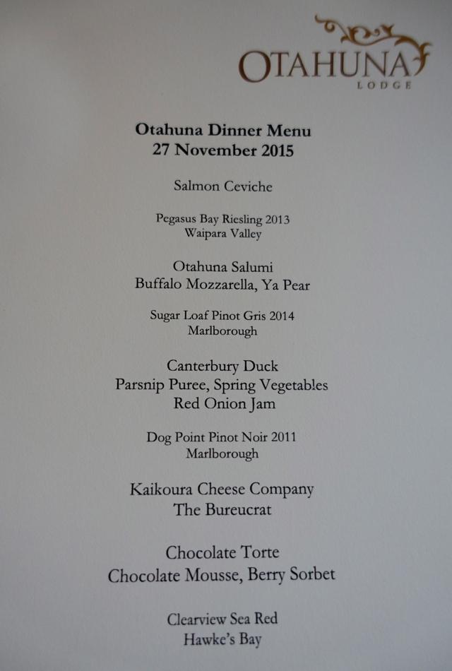 Otahuna Lodge Dinner Tasting Menu with Paired Wines