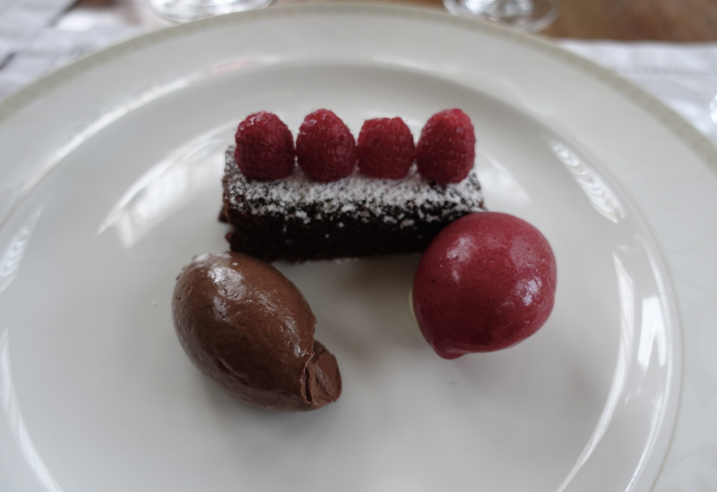 Chocolate Torte Dessert, Otahuna Lodge Dining Review