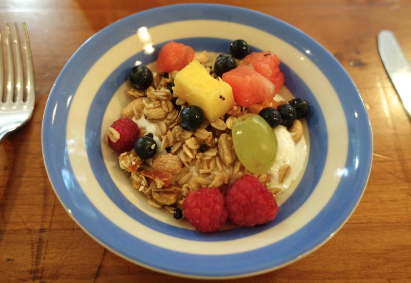 Fruit, Yogurt and Homemade Granola, Otahuna Review