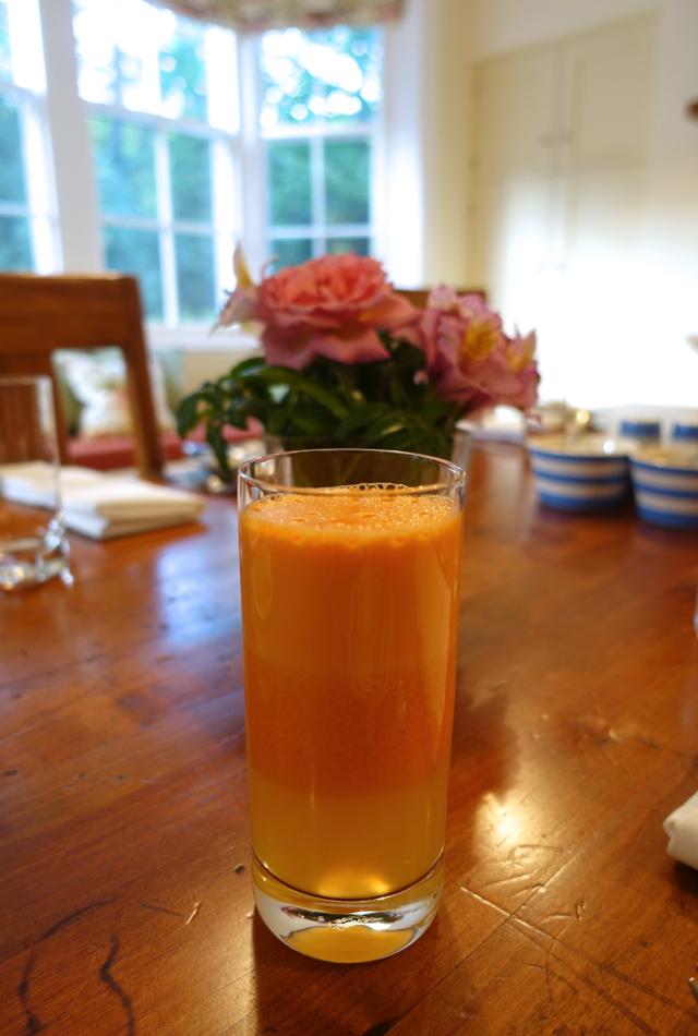 Fresh Squeezed Juice, Otahuna Lodge Review, New Zealand