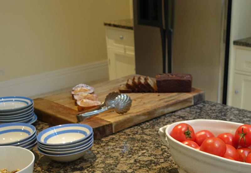 Almond Blueberry Pastries and Banana Bread, Otahuna