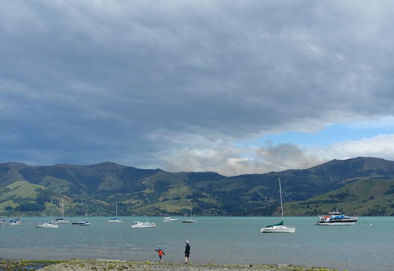 Skip Stones by Akaroa Harbor, New Zealand