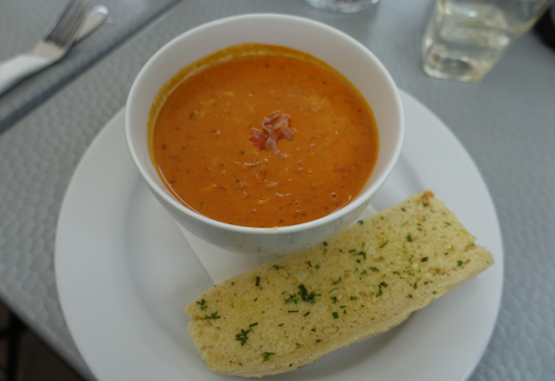 Moroccan Seafood Chowder at The Brasserie, Akaroa, New Zealand Review