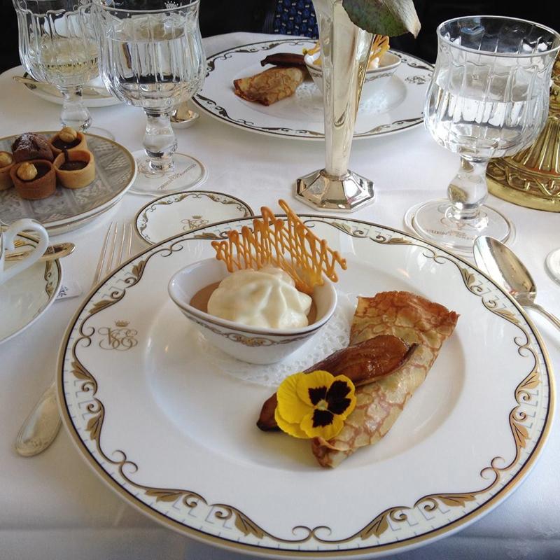 Dessert on Belmond's Orient-Express Train in Europe