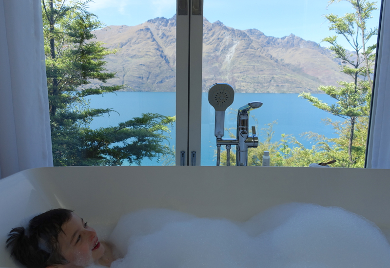 View of Lake from Bath, Deluxe Suite, Matakauri Lodge Review