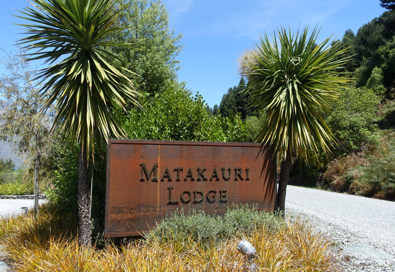 Matakauri Lodge Sign, Glenorchy Near Queenstown, New Zealand