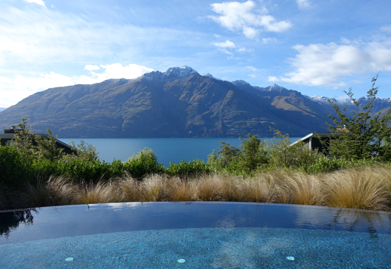 Swimming Pool, Matakauri Lodge Review Queenstown, New Zealand