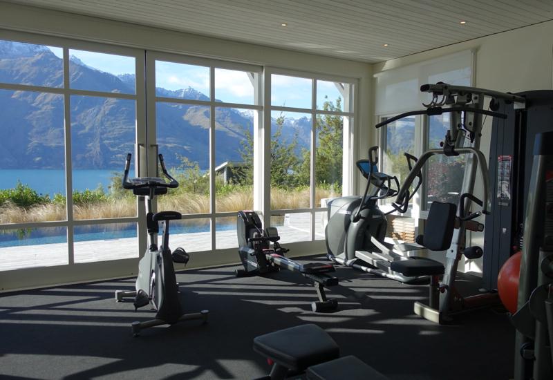 Fitness Center, Matakauri Lodge Review