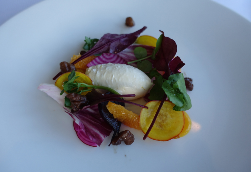 Goat Cheese Mousse Appetizer, Matakauri Lodge Review