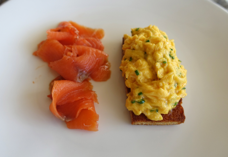 Aoraki Smoked Salmon and Scrambled Eggs on Brioche, Matakauri Lodge Review