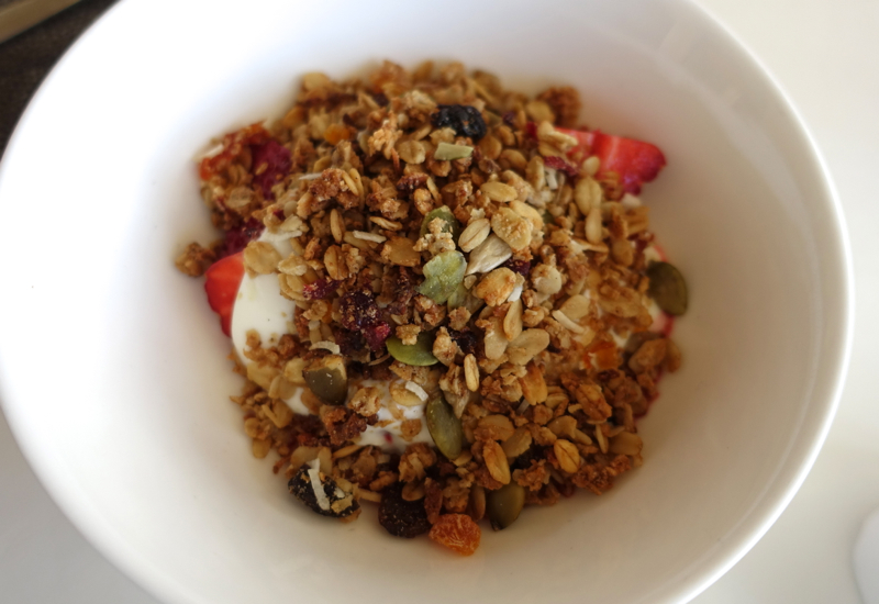 Yogurt with Fruit and Granola, Matakauri Lodge Review