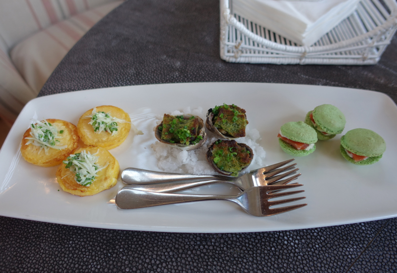 Matakauri Lodge Dining Review-Pre-Dinner Canapes