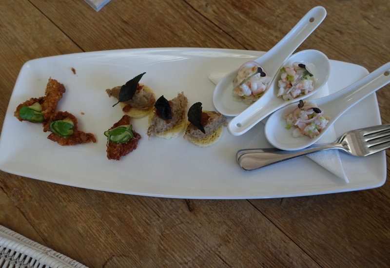 Pre-Dinner Canapes, Matakauri Lodge Dining Review, Queenstown