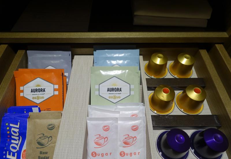 Aurora Tea and Nespresso Pods, Park Hyatt Sydney Review