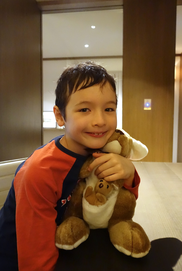 Kid's Gift from Park Hyatt Sydney: a Kangaroo and Joey