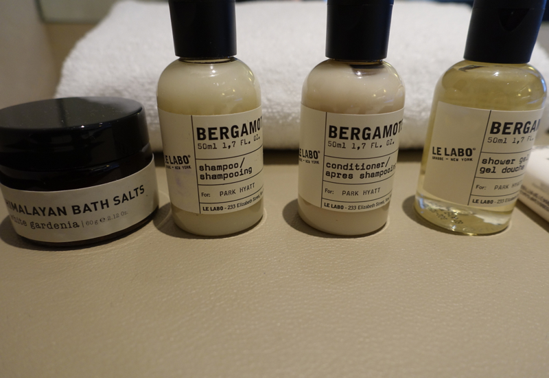 Le Labo Bergamote 22 Bath Products, Park Hyatt Sydney Review