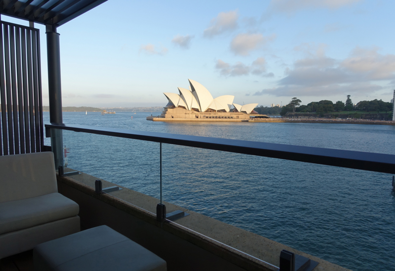 View of Opera House from Balcony, Opera Deluxe Room, Park Hyatt Sydney Review
