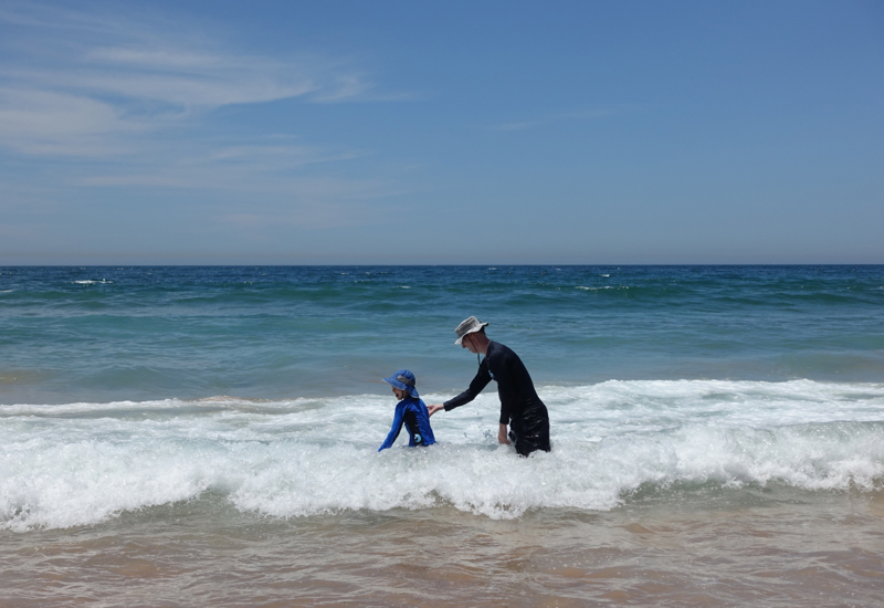 Palm Beach, Australia: Playing in the Surf