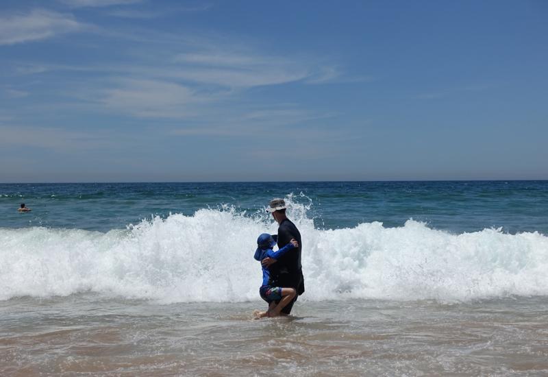 Jumping the Waves at Palm Beach, Australia