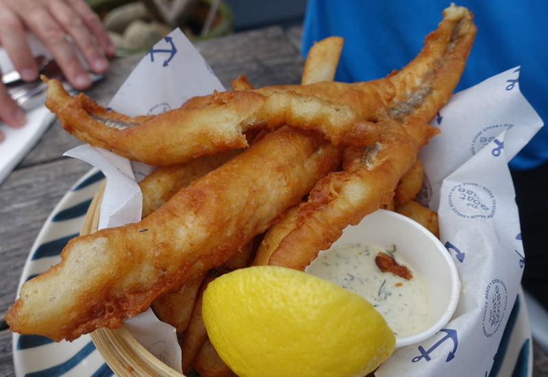 Beer Battered Fish and Chips, The Boathouse Palm Beach