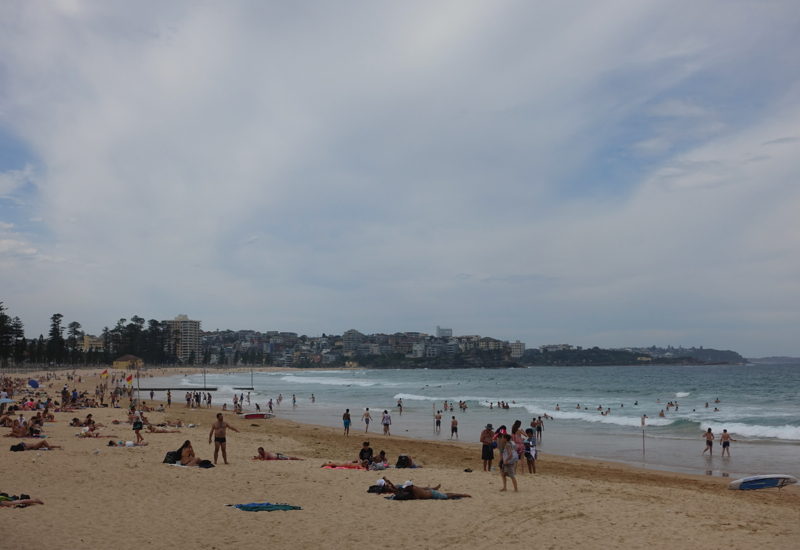 Manly Beach Review: Crowded