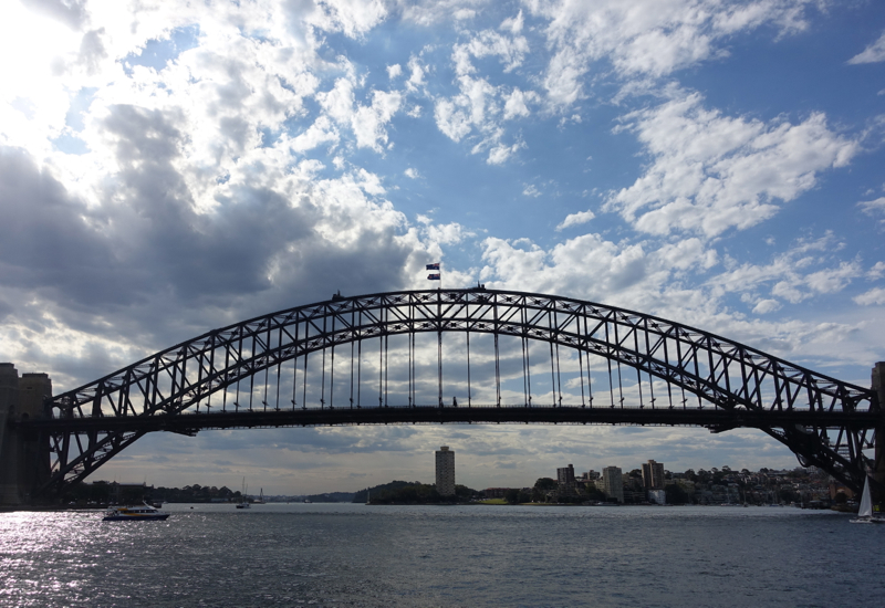 Sydney Habour Bridge: View from Manly Ferry