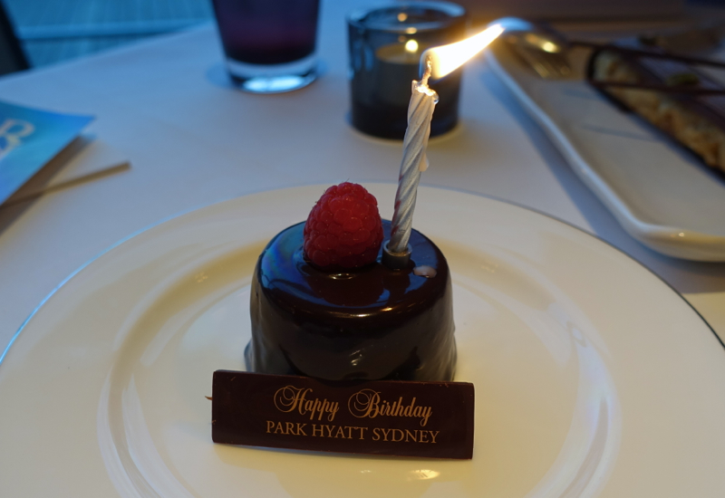 Park Hyatt Sydney Happy Birthday Cake