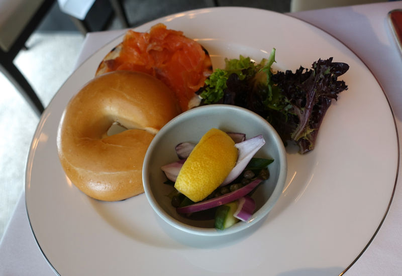 Smoked Salmon and Cream Cheese Bagel, Park Hyatt Sydney Review