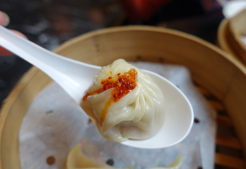 Xiao Long Bao with Chili Sauce, Din Tai Fung Review