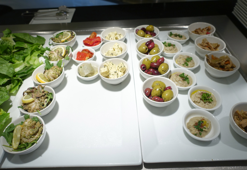 Mezze (Appetizers), Etihad Sydney Lounge Review
