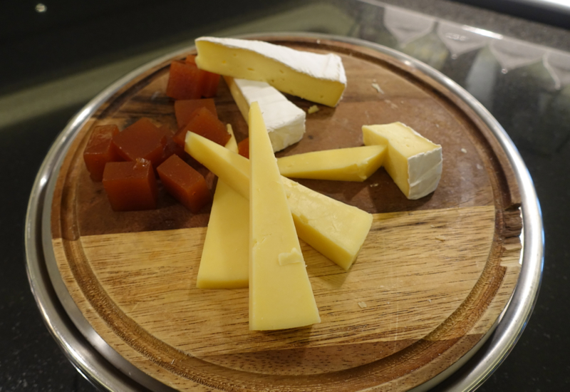 Cheese Selection, Etihad Lounge, Sydney Review