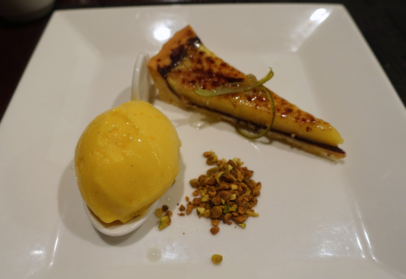 Caramelized Lemon Tart Dessert, Etihad Lounge Sydney Review