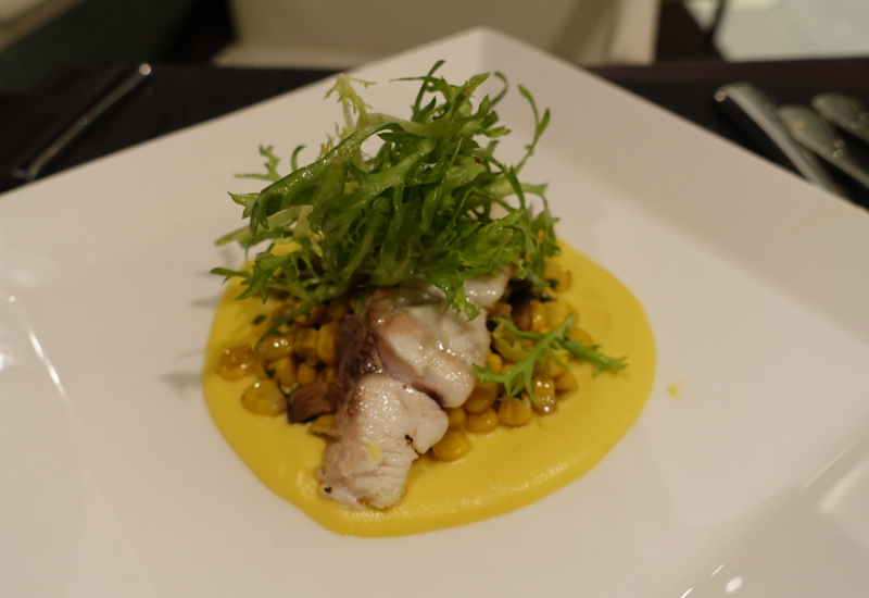 Grilled Barramundi, Etihad Lounge Sydney Review