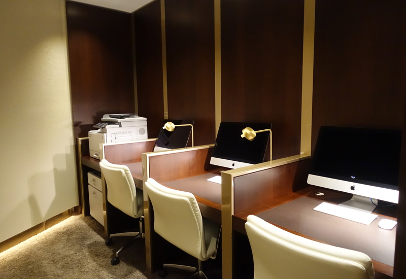Business Center, Etihad Lounge, Sydney Review