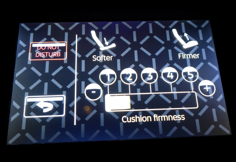 Touchscreen Seat Control, Etihad First Apartment Review