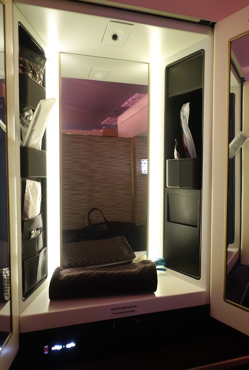Vanity and Amenity Kit, Etihad A380 First Apartment Review