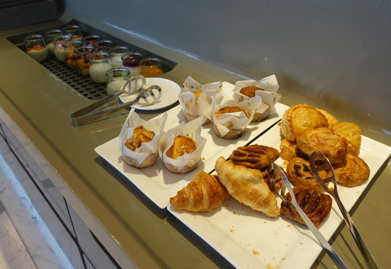 Breakfast Pastries, Qantas First Class Lounge Sydney Review