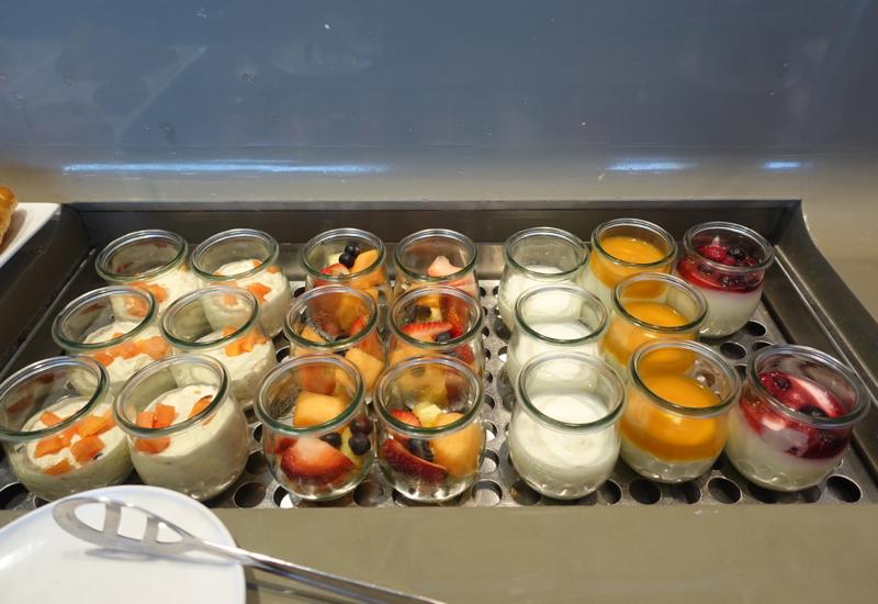 Fruit and Yogurt, Qantas First Class Lounge Sydney Review