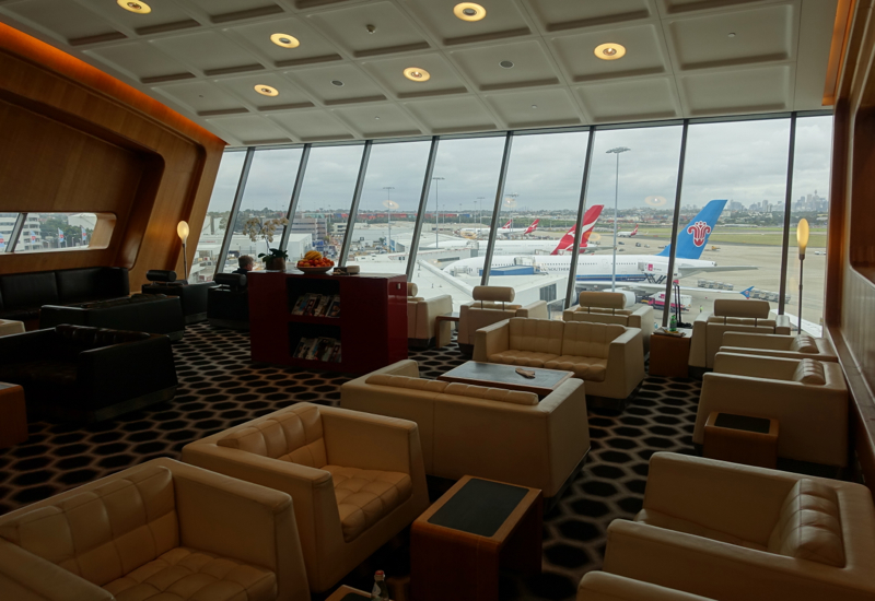 View of Planes on Tarmac, Qantas First Class Lounge Sydney Review