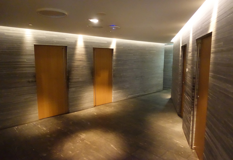 Doors to Treatment Rooms, Qantas First Class Lounge Spa, Sydney Review