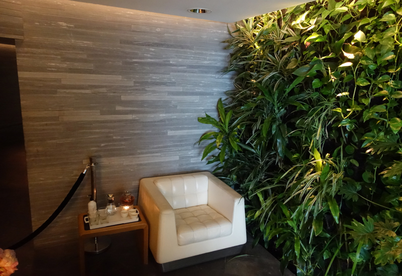 Qantas First Class Lounge Spa Waiting Area, Sydney Review