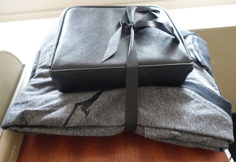 Qantas First Class Pajamas and Amenity Kit