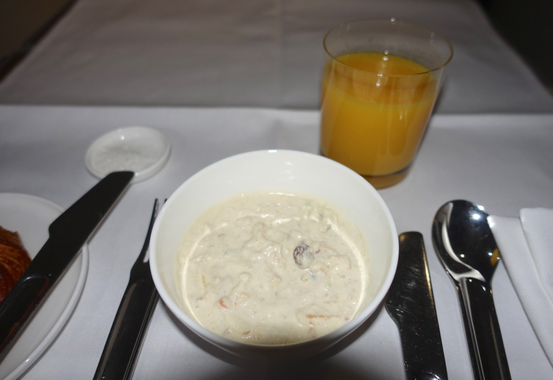 Muesli and Orange Juice, Qantas A380 First Class Review
