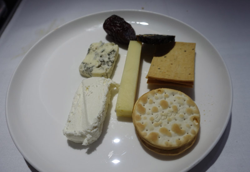 Cheese Plate, Qantas A380 First Class Review